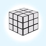 Cube blanc Photographie stock libre de droits