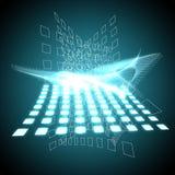 Cube bleu Image libre de droits