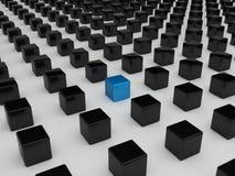 Cube bleu différent Photographie stock libre de droits
