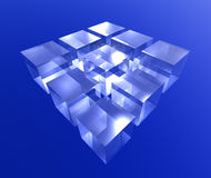 Cube blue Stock Photography