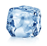 Cube of blue ice Royalty Free Stock Photography