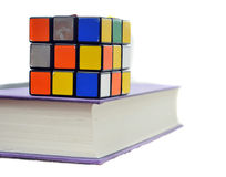 Cube on Book Stock Photos