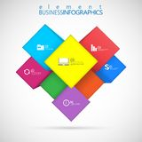 Cube box for business concepts , template Infographic , web design. Vector Illustration Royalty Free Stock Images