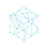 Cube box isometric icon illustration blue green color Stock Photo