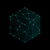 Cube boxe isometric icon illustration blue green color Royalty Free Stock Photography