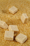 Cube of brown sugar Royalty Free Stock Photo
