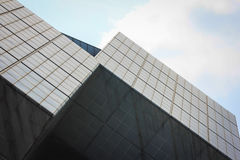 Cube. Building and blue sky Royalty Free Stock Image