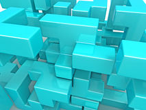 A cube built from blocks. Puzzle Royalty Free Stock Images