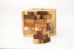 Cube built from blocks Stock Photography