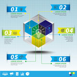 Cube business info-graphic template vector Stock Photography