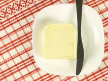 Cube of butter Stock Photo