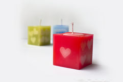 Cube candle royalty free stock photo