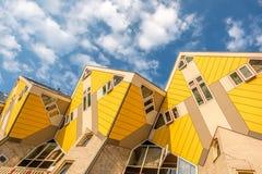 Cube casas em Rotterdam, Holanda sul, Países Baixos imagem de stock royalty free