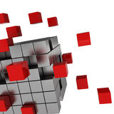 Cube chaos Stock Photography