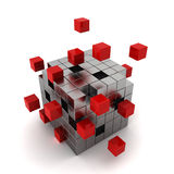 Cube chaos Royalty Free Stock Photo