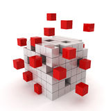 Cube chaos Stock Images