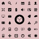 Cube in a circle icon. Detailed set of minimalistic icons. Premium graphic design. One of the collection icons for websites, web d. Esign, mobile app on colored Stock Photos
