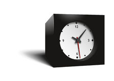 Cube clock Stock Image
