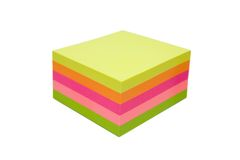 Cube collant en notes Images libres de droits