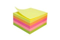 Cube collant en notes Image libre de droits