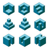 Cube collection  Royalty Free Stock Photos