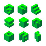 Cube collection  Royalty Free Stock Images