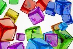 Cube coloré Photo stock