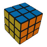 Cube color Stock Photo
