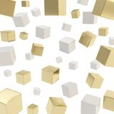 Cube composition over white background Stock Photos