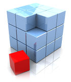 Cube construction Royalty Free Stock Photography