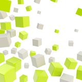 Cube copyspace composition as abstract backdrop Royalty Free Stock Photos