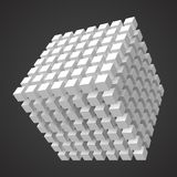 Cube of cubes, 3d style vector illustration. Suitable for any banner, ad, technology and abstract themes Stock Images