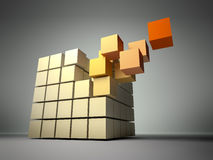Cube of cubes Stock Image