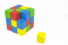 Cube from cubes Royalty Free Stock Photos
