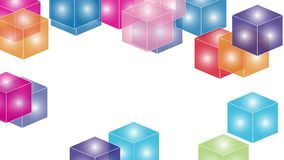 Cube, cuboid, rectangle, motion, video stock footage