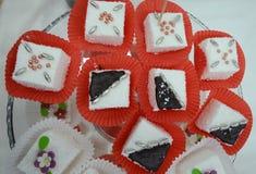 Cube cupcakes Stock Photos