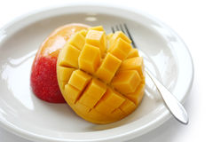 Cube cut Mango Stock Images
