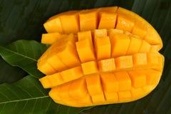 Cube cut mango Stock Images