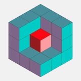 Cube in a cut Stock Photography