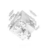 Cube décomposé de puzzle Photo libre de droits