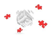 Cube décomposé de puzzle Photos stock