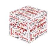 cube 3d avec le concept de web design Image stock