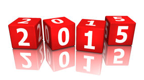 Cube 2015 3d Stock Images