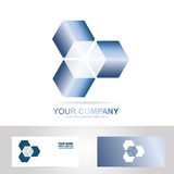 Cube 3d technology logo Royalty Free Stock Photo