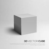 Cube 3D. Vector illustration for your design. Royalty Free Stock Photos