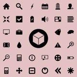cube dans une icône de cercle Ensemble détaillé d'icônes minimalistic Conception graphique de la meilleure qualité Une des icônes illustration de vecteur