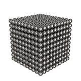 Cube de billes d'acier l'eau de jouet peinte par couleurs d'enfants rendu 3d Image libre de droits