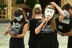 Cube of Truth demonstration in Olomouc