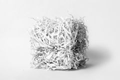 Cube de papier déchiqueté Images libres de droits