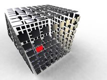 Cube decomposed Stock Photos